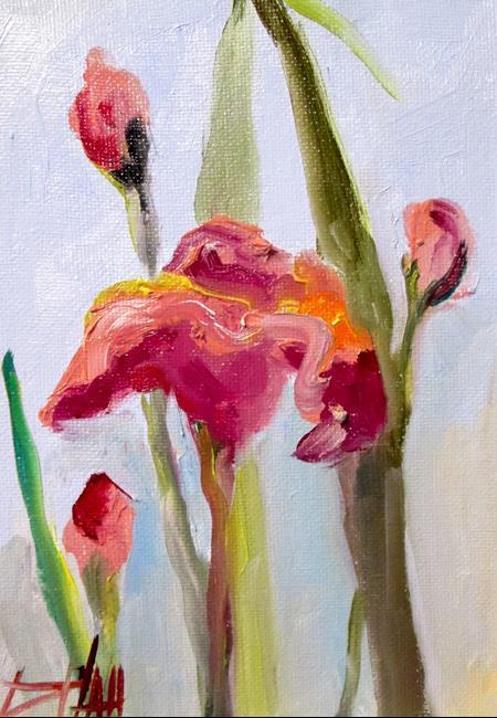 Art: Pink Iris by Artist Delilah Smith