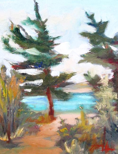 Art: Pines by the Lake by Artist Delilah Smith