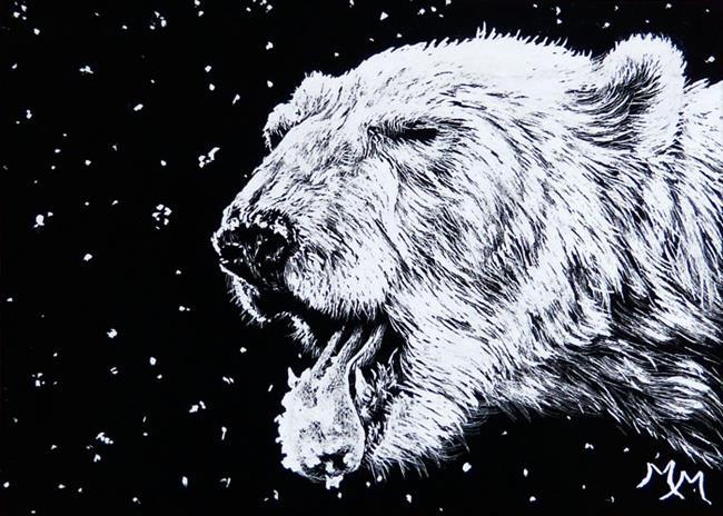 Art: Catching Snow by Artist Monique Morin Matson