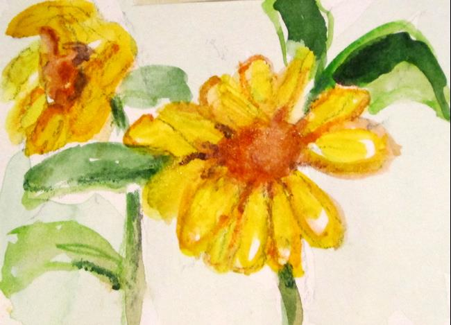 Art: Sunflowers by Artist Delilah Smith