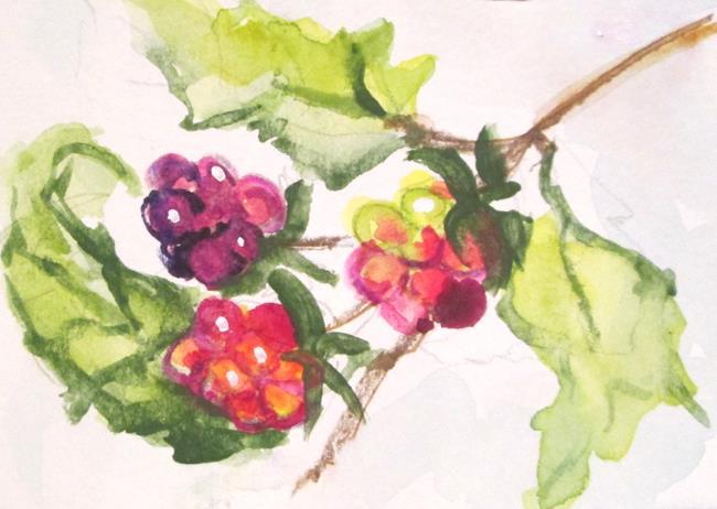 Art: Raspberries by Artist Delilah Smith
