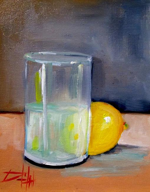 Art: Glass and Lemon by Artist Delilah Smith
