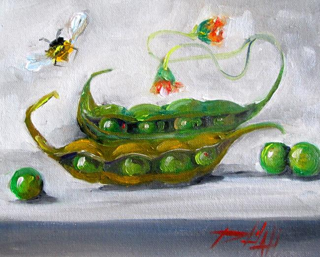 Art: Peas by Artist Delilah Smith