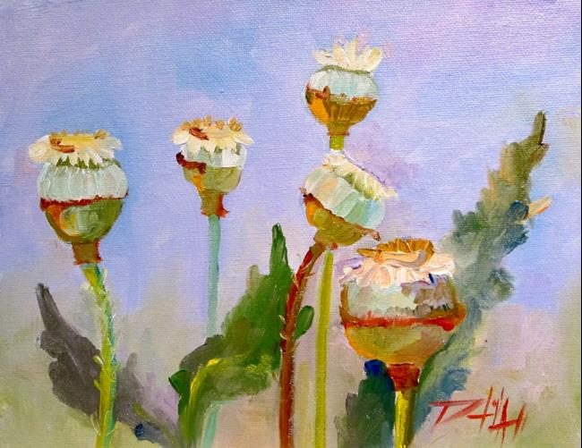 Art: Poppy Pods by Artist Delilah Smith