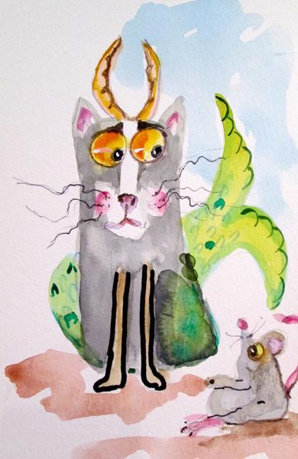 Art: Capricorn Cat by Artist Delilah Smith