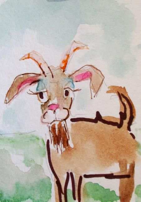 Art: Goat-sold by Artist Delilah Smith