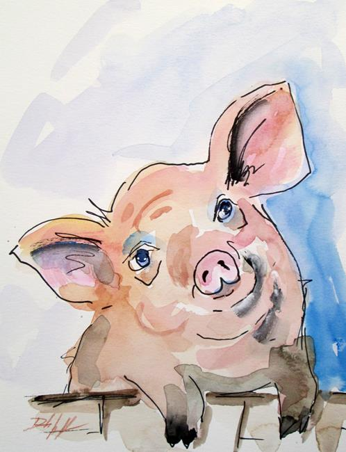 Art: Pig No. 15 by Artist Delilah Smith