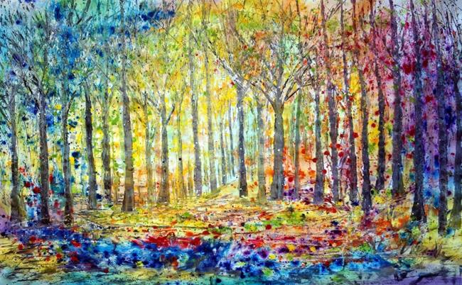 Art: FOREST in the COLORS of the RAINBOW by Artist LUIZA VIZOLI