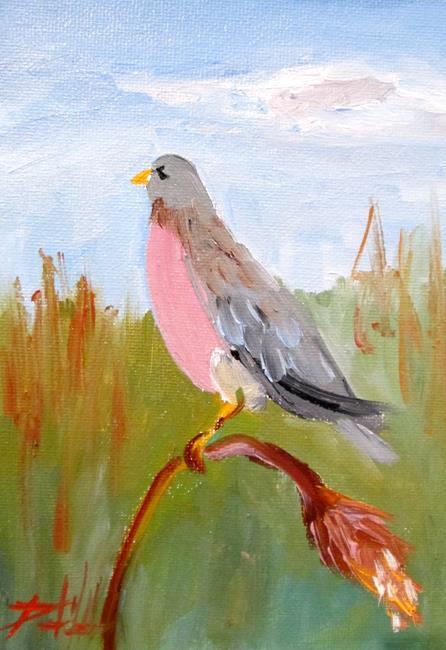 Art: Bird in the Marsh by Artist Delilah Smith