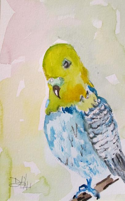 Art: Parakeet by Artist Delilah Smith