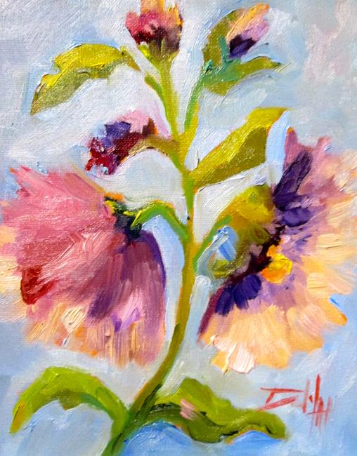 Art: Hollyhocks No.4 by Artist Delilah Smith