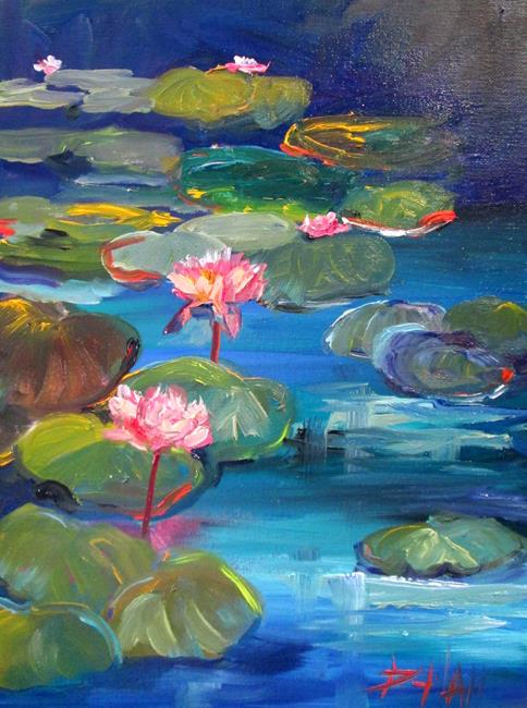 Art: Lily Pond No. 17 by Artist Delilah Smith
