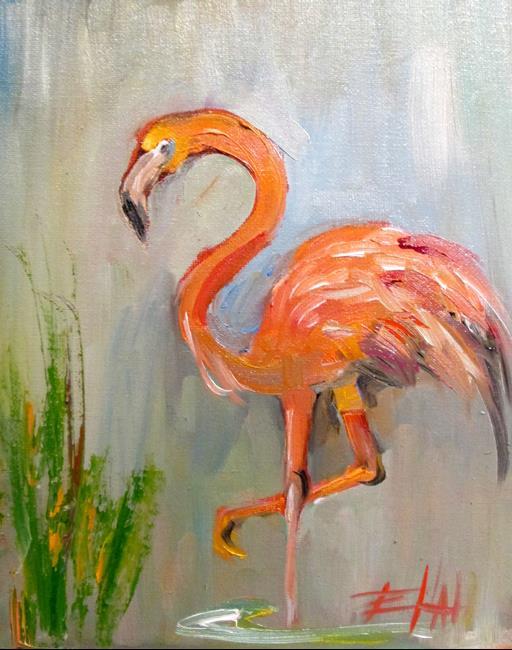 Art: Flamingo No. 27 by Artist Delilah Smith