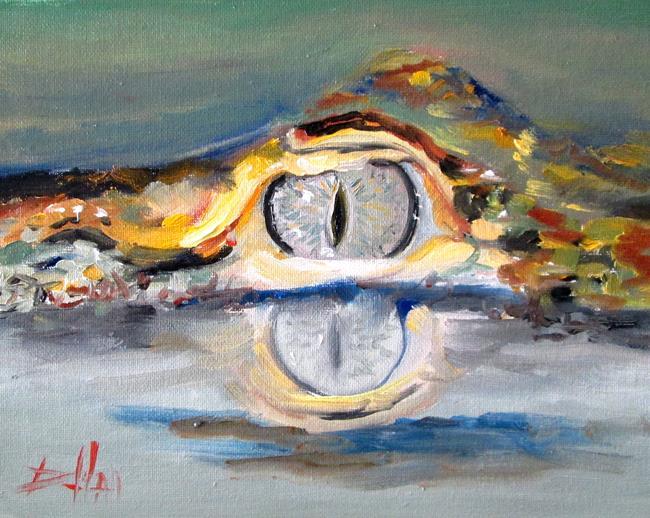 Art: Alligator Eye by Artist Delilah Smith