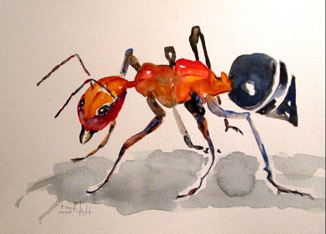 Art: Red Ant by Artist Delilah Smith