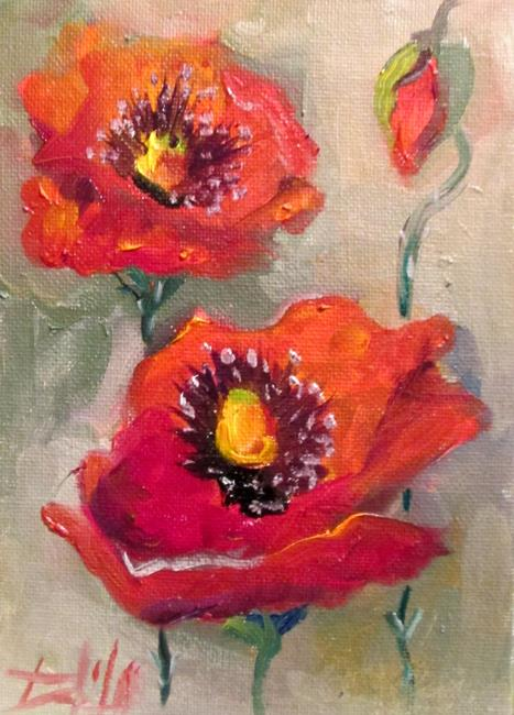 Art: Poppies No. 15 sold by Artist Delilah Smith