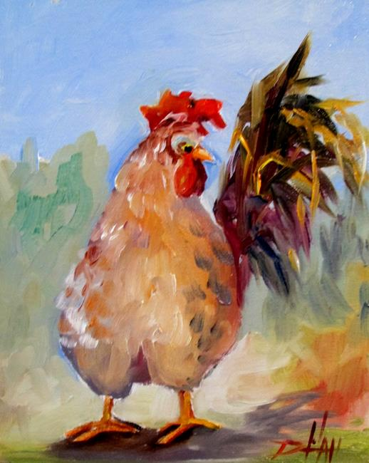 Art: Fat Chicken No. 3 by Artist Delilah Smith