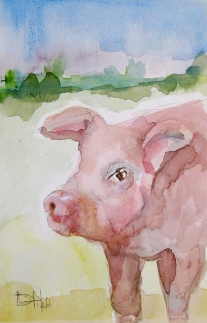 Art: Piglet by Artist Delilah Smith