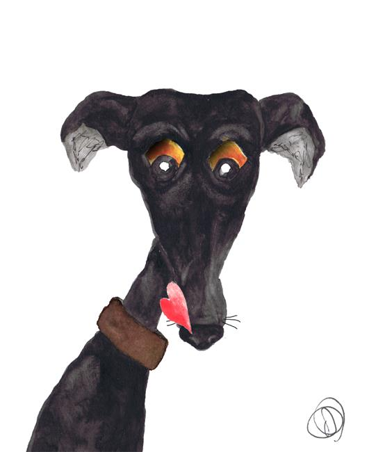 Art: GREYHOUND g565 by Artist Dawn Barker