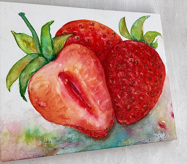 Art: Strawberries - sold by Artist Ulrike 'Ricky' Martin