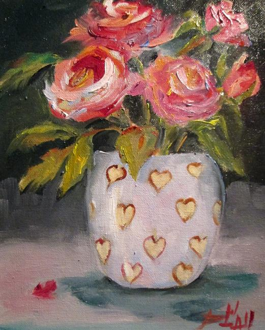 Art: Sweetheart Roses Sold by Artist Delilah Smith