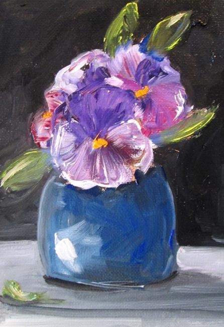 Art: Violets by Artist Delilah Smith