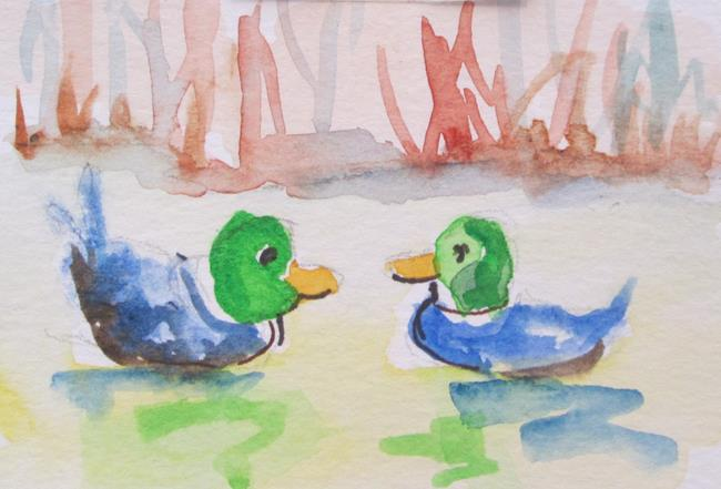 Art: Mallards by Artist Delilah Smith