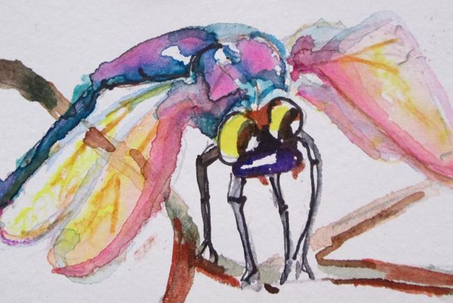 Art: Little Dragonfly by Artist Delilah Smith