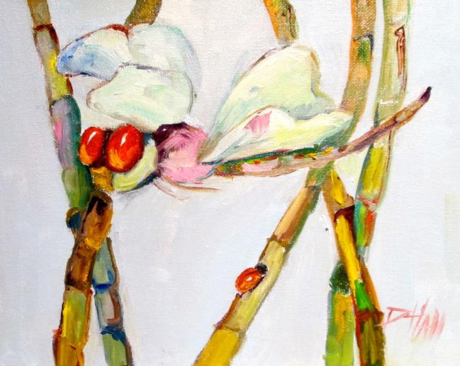 Art: Dragonfly and Ladybug No. 2 by Artist Delilah Smith