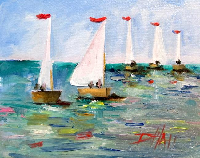 Art: Sailing by Artist Delilah Smith