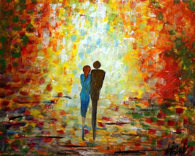 Art: AUTUMN ROMANCE by Artist LUIZA VIZOLI