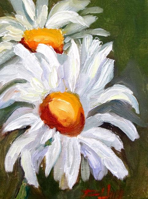 Art: Two Happy Daisies by Artist Delilah Smith
