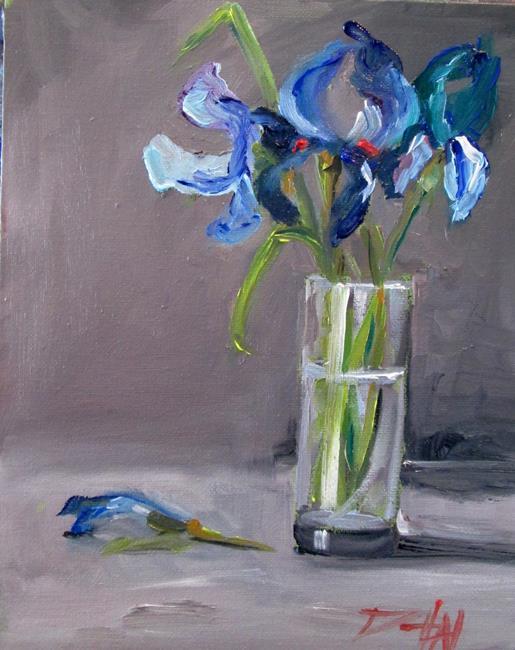 Art: Cut Iris by Artist Delilah Smith