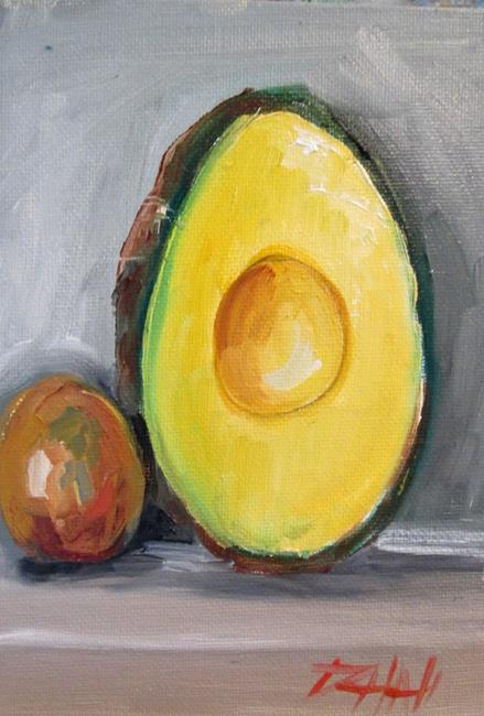Art: Avocado and Seed by Artist Delilah Smith