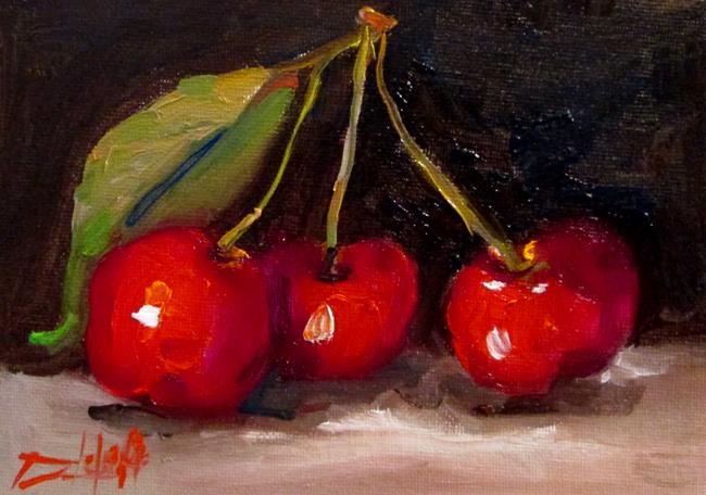 Art: Three Cherries by Artist Delilah Smith