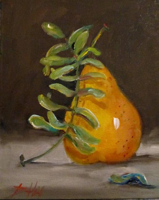 Art: Pear and Eucalyptus by Artist Delilah Smith