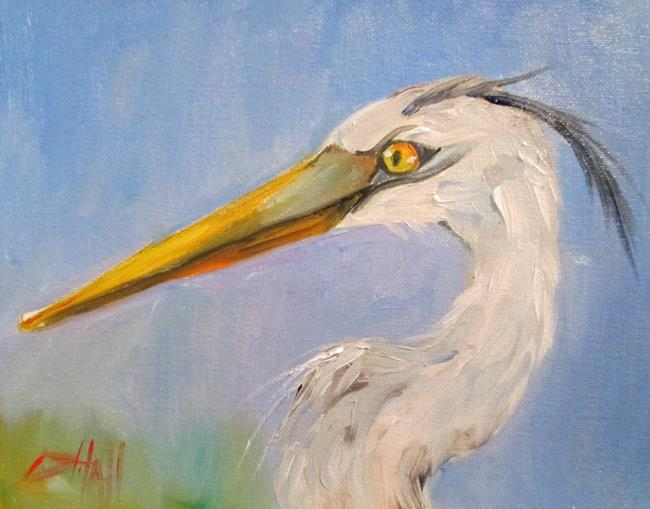 Art: Blue Heron by Artist Delilah Smith