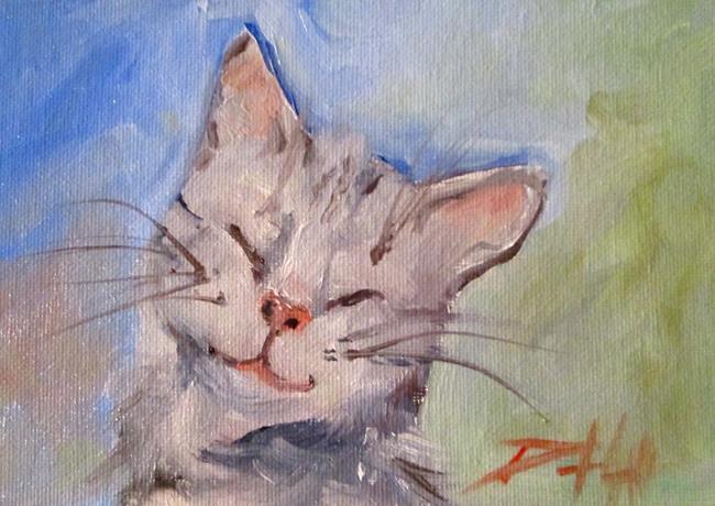 Art: Smiling Kitten by Artist Delilah Smith