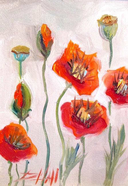 Art: Poppy Garden by Artist Delilah Smith