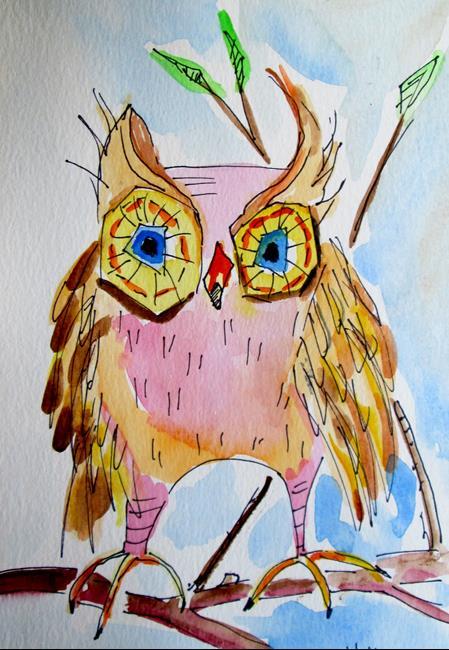 Art: Owl No. 6 by Artist Delilah Smith