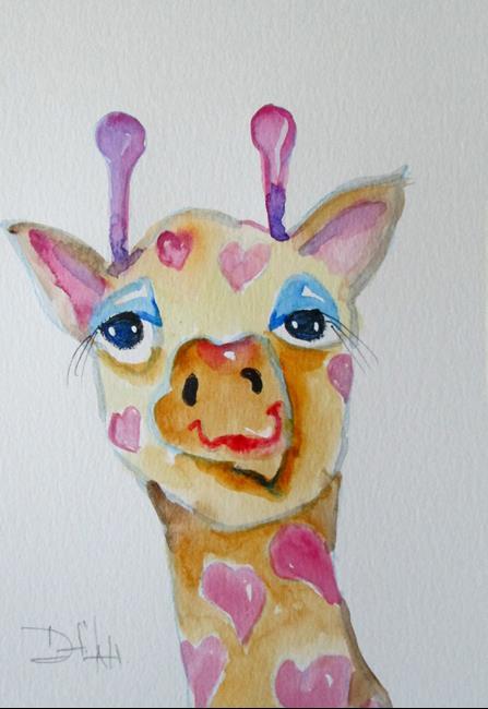 Art: Valentine Giraffe by Artist Delilah Smith