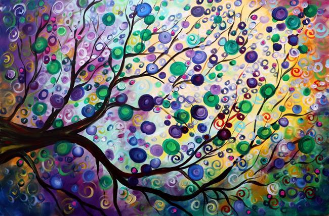 Art: LILACS IN BLOOM Purple Rain by Artist LUIZA VIZOLI