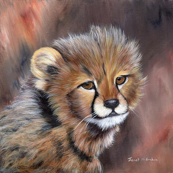 Art: Cheetah Cub No 3 by Artist Janet M Graham