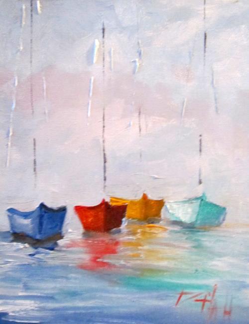 Art: Sailboats No. 18 by Artist Delilah Smith