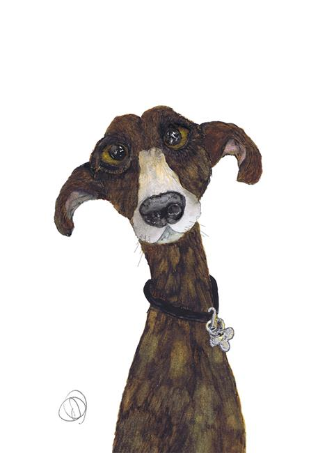 Art: GREYHOUND g478 by Artist Dawn Barker
