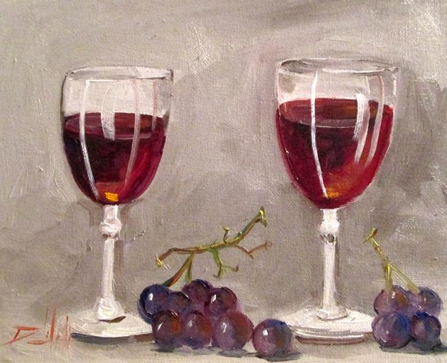 Art: Two Glasses by Artist Delilah Smith
