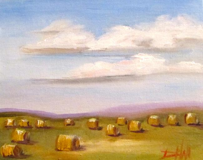 Art: Hay Bails No. 3 by Artist Delilah Smith