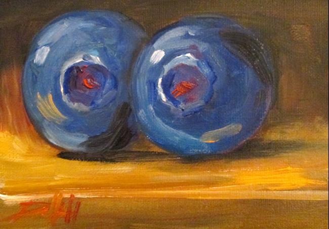 Art: Blueberries by Artist Delilah Smith