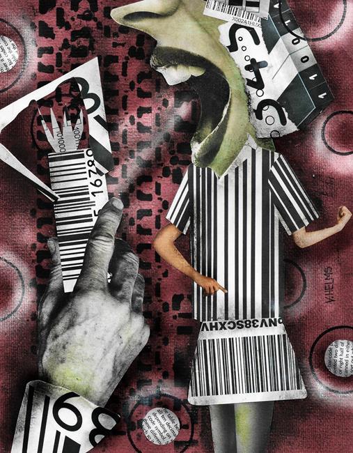 Art: Barcode Betty by Artist Vicky Helms