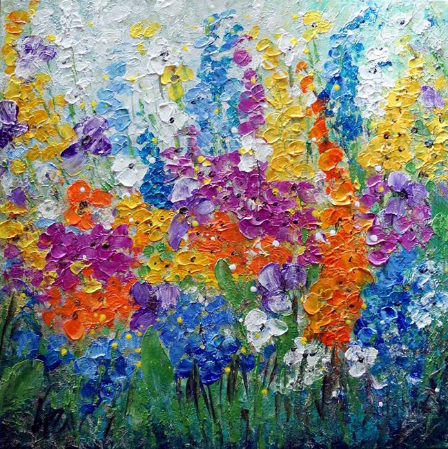 Art: Wild Flowers on the Meadow at Summertime by Artist LUIZA VIZOLI